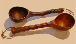 Handmade Wooden Cowboy Bean Spoons