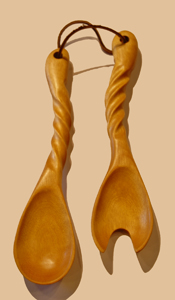 Doris Wooden Salad Serving Set